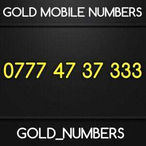 MOBILE NUMBER GOLD 0777 NUMBER EASY NUMBER GOLD SIM SIMCARD 07774737333