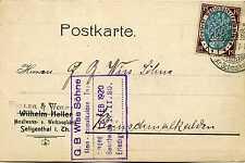 Carte Empire Allemand Plus clair Wolff Seligenthal après Kleinschmalkalden 1920