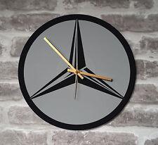 """Vinyl Record Wall Clock 12"""" - Mercedes Merc Car man cave stencil art"""