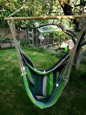 Garden Hammock Chair Hanging Swing Seat With Cushion Outdoor Camping Christow