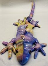 Unbranded Purple Gold Metalic Shiny Large Gecko Lizard Sand Filled Plush 18.5 in