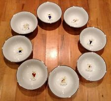 NEW Pottery Barn Reindeer Bowls ~Full Set of All 8!~ Holiday RARE~Great Gift!
