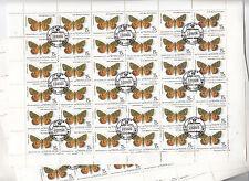 CCCP URSS 25 feuilles Faune Papillons 15 k 1986