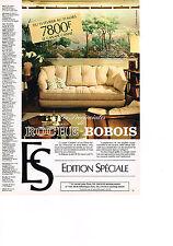 PUBLICITE ADVERTISING  1981   ROCHE & BOBOIS   canapé CONFIDENT