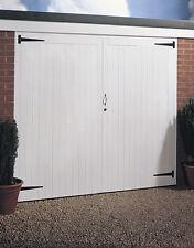 JELDWEN SIDE HUNG TIMBER WOODEN GARAGE DOOR PAIR 2134MM X 2134MM