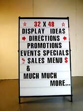 New Enormous A Frame 2-Sided Sidewalk Sign Sandwich Board W 4 inch Letters set!