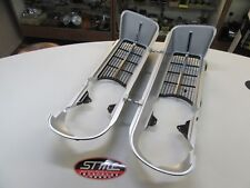 1967 67 FIREBIRD 400 NEW PAIR OF FRONT GRILLS W CHROME STRIP GM LISCENSED PART