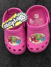 BNWT Girls Shopkins Pink Croc Style Shoes. Size 5/6 Eur 24