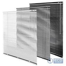 Plain ready made aluminium 25mm slat venetian window blind white silver black