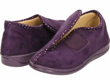 Señoras Púrpura Memoria Espuma Lavable Rip cinta Zapatilla Botas Uk 3 EU 36 (247494)