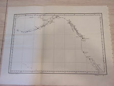 1905 Map of West Sea Coast, Puget Sound, Naval Station, Alutian Islands