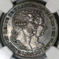 1793 NGC MS 63 Louis & M Antoinette France Conder Middlesex DH 995a (19120701C