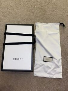 New Gucci Shoebox With Dustbag And Ribbon