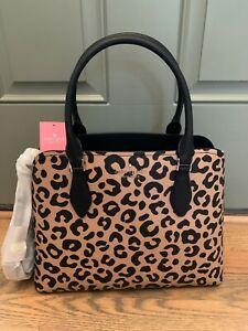 Kate Spade Darcy Leopard Cheetah Print  Large Satchel Handbag Purse