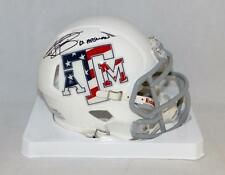 Johnny Manziel Heisman Signed Texas A&M Stars and Stripes Mini Helmet-JSA W