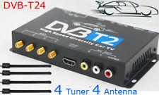 HDTV Car DVB-T2 DVB-T MULTI PLP Digital TV Receiver Automobile DTV box 4 Tuner