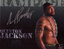 QUINTON RAMPAGE JACKSON UFC AUTOGRAPH SIGNED PP PHOTO POSTER