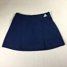 Adidas Womens Sz S Tennis Skirt Skorts Mini ClimaLite Blue Pleats Performance