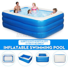 82' Inflatable Family Swimming Pool Outdoor Summer Lounge Water Fun for 4 Kids