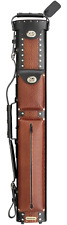 Vincitore LC24CRB Grade A - 2x4 Black & Brown Leather Cue Case - LC-24CRB