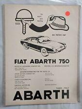 FIAT ABARTH 750 Fiat Print Ads M181