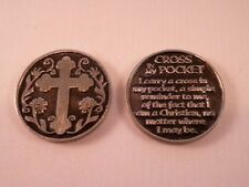 Cross in My Pocket ~ Pewter Pocket Token ~  Pack of Two