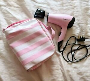 Remington Pink Hairdryer w candystripe bag. Model D-3110GP 1650 - 2000 Watt