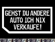 Autohändler Visitenkarte nein danke Aufkleber ich nix verkaufe meine Auto