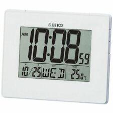 Seiko LCD Alarm Calendar Clock Digital Display Backlight Thermometer Temperature