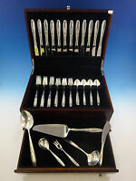 Rose Solitaire by Towle Sterling Silver Flatware Service For 12 Set 54 Pieces
