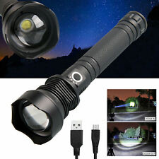 Zoom Focus XHP70.2 Potente torcia a LED USB ricaricabile a lungo raggio