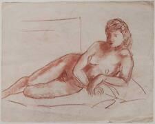 (2) Original 1930s Austrian artist, Art Deco reclining nude,  large format