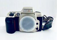 Nikon N60 35mm SLR Film Camera Silver Black Body Auto Manual Excellent Japan