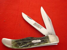 """Marble's Quality Knives 5-3/8"""" Stag 2 Blade Folding Hunter Knife MINT"""