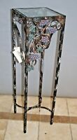 Large Wrought Iron Pedestal Plant stand Tall Eloquently designed and handcrafted