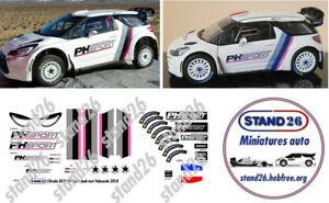 Decals Citroën DS3 WRC PHsport PH SPORT Loeb Test Valensole 2018 1/43e