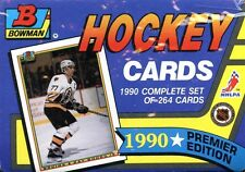 1990-91 BOWMAN FACTORY SEALED HOCKEY SET