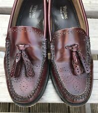 Bass Weejuns Tassle Loafers Oxblood red slip-on mod ska skinhead size 3