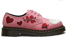BRAND NEW Dr Martens Pink 1461 Sequin Hearts Retro Floral Shoes Size 3