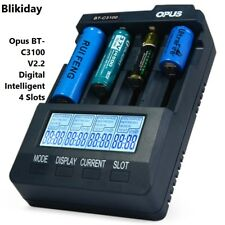 100%  Opus BT-C3100 V2.2 Digital Intelligent 4 Slots AA/AAA LCD Battery Charger