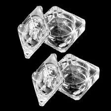2PC Crystal Dappen Dish Nail Art Acrylic for Liquid Powder Tool