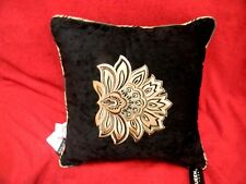 "J. Queen New York COVENTRY  Black 18"" x 18"" Decorative Elegant Square Pillow"