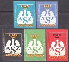 POLAND 1968 Matchbox Label - Cat.Z#832 set 60 years, Academic Sport Association.
