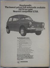 1970 Honda Original advert No.1