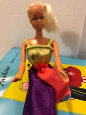 (Vintage)Teen Fashion Doll Case with Blonde Barbie doll & free gift Christmas Cd