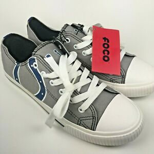 Indianapolis Colts NFL Football FOCO Womens Big Logo Canvas Shoes Size 8 New