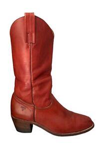Frye Boots 70s Vintage Boots Frye Cowboy Boots Cognac Western Boots - Men's 9.5D