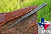 HAND FORGED DAMASCUS STEEL DAGGER KRIS BLADE BOOT KNIFE THROWING KNIFE Full Tang
