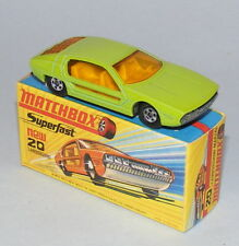 MATCHBOX SUPERFAST #20 LAMBORGHINI MARZAL PRE-PRODUCTION COLOUR TRIAL LIME GREEN