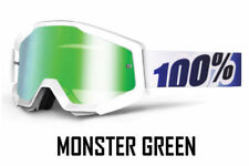 Occhiali da moto bianchi con lenti in verdi